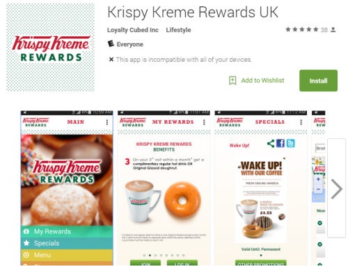 Krispy Kreme Rewards UK (iOS, Android)