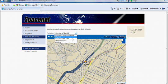Spacenet - Truck Tracking System
